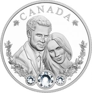 Royal Wedding Coin of Prince Harry and Ms Meghan