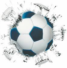 Exploding soccer ball